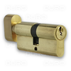 VIRO 740.7.PV - Euro Profile Single Cylinder with Thumbturn - Brass Body - Patented Key