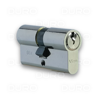 VIRO 920.3.9 - Euro Profile Double Cylinder - Nickel PLated Brass Body