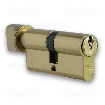 VIRO 941.16 - Euro Profile Single Cylinder with Thumbturn - Brass Body