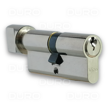 VIRO 941.16.9 - Euro Profile Single Cylinder with Thumbturn - Nickel Plated Brass Body
