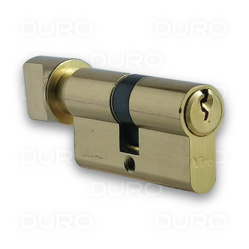 VIRO 941.4 - Euro Profile Single Cylinder with Thumbturn - Brass Body