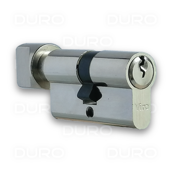VIRO 941.4.9 - Euro Profile Single Cylinder with Thumbturn - Nickel Plated Brass Body