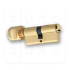 Art.998/63/G Euro Profile Single Cylinder with Thumbturn - PVD Gold