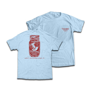 Dreamland Sauce T-Shirt. Color: Chambray. $24.99