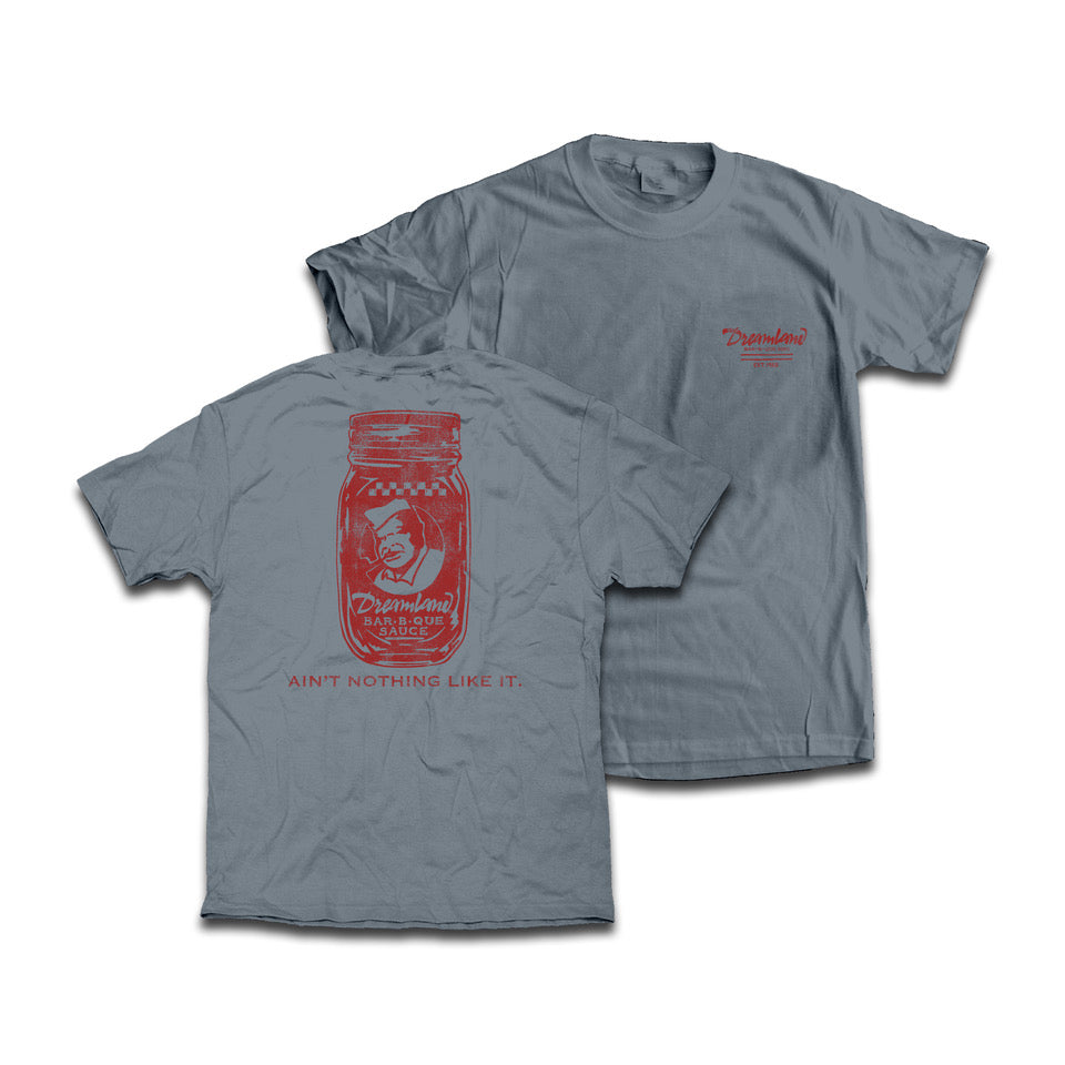 Dreamland Sauce Tee Shirt. Color: Gray. $25.00