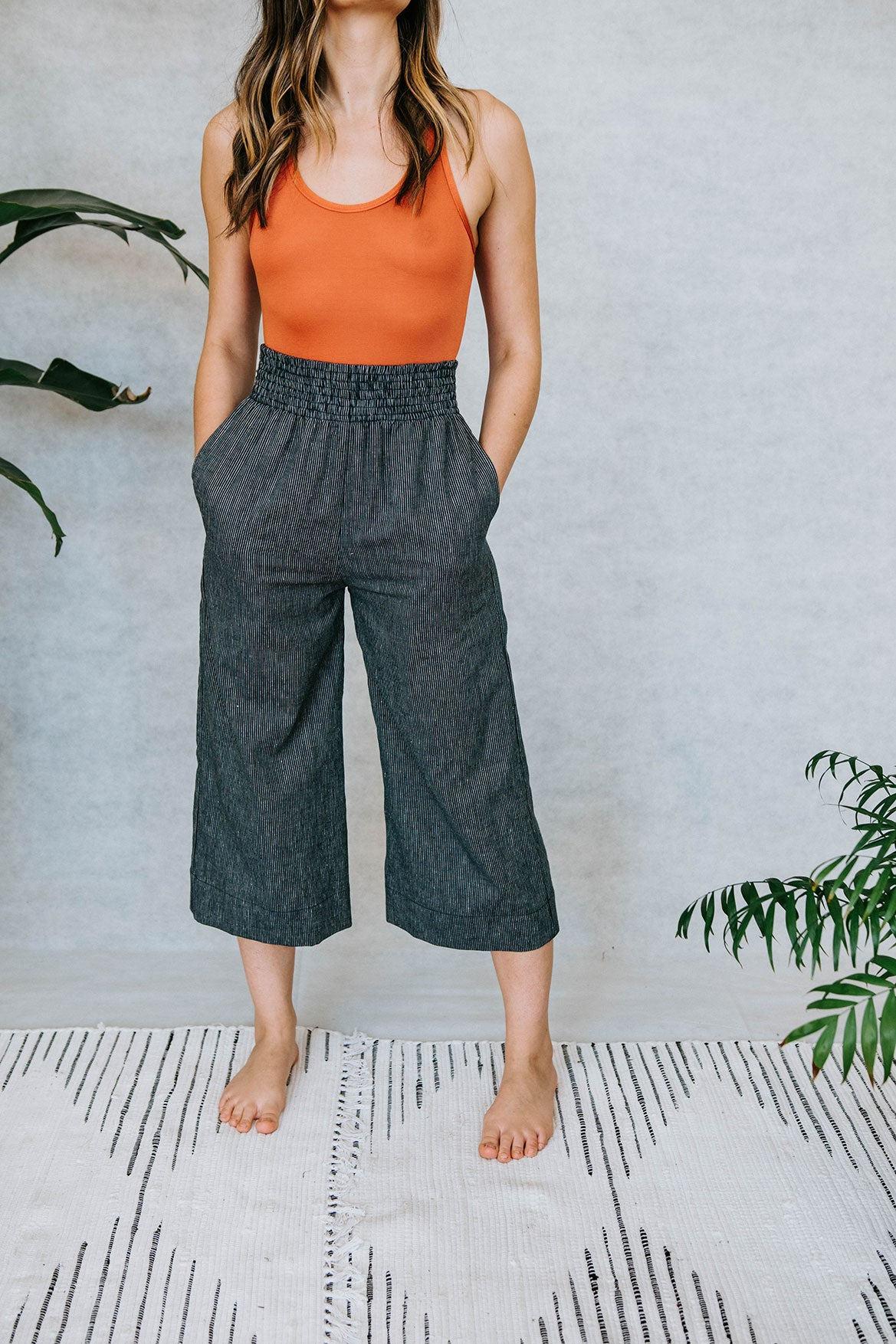 The Boxer Culotte in Hemp/Cotton