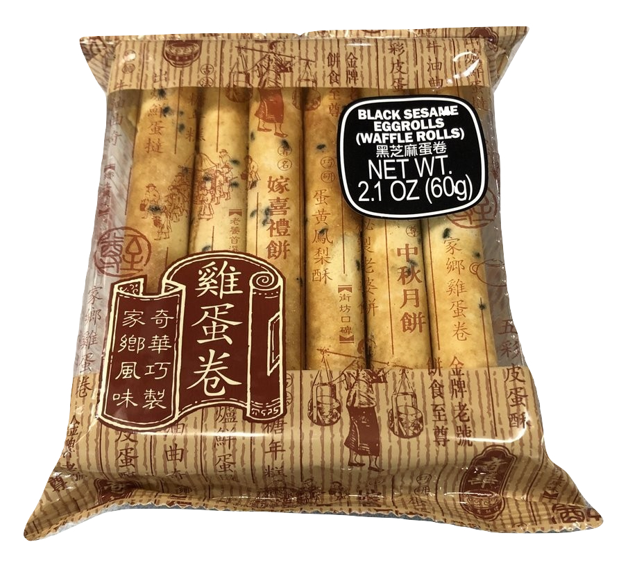 Black Sesame Eggroll  12pc pack 黑芝麻蛋卷