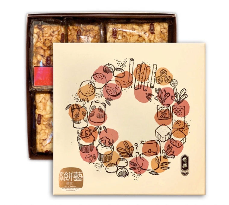 Assorted Chinese Sweet Crispy Gift Set (4pc)     4入馬仔禮盒