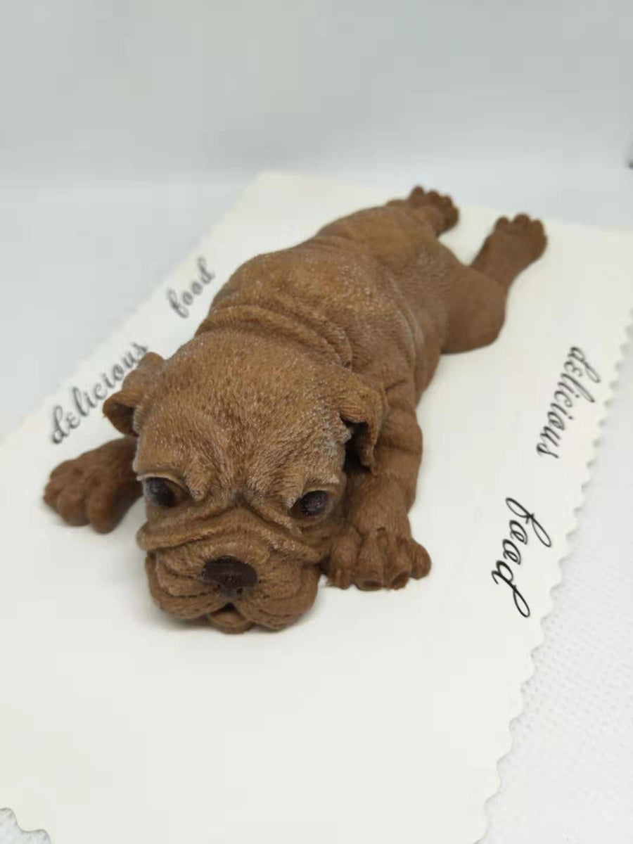 Chocolate mousse puppy