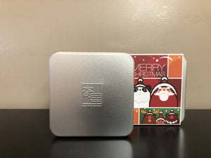 Sliver gift tin w/ message sleeve 銀色禮品方罐