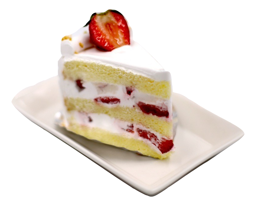 "Strawberry Cream Sponge Cake  (8"") 草莓忌廉海綿蛋糕"