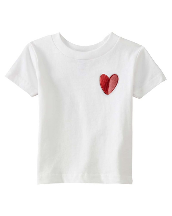 Mod Heart Patch, Little Kid T-Shirt