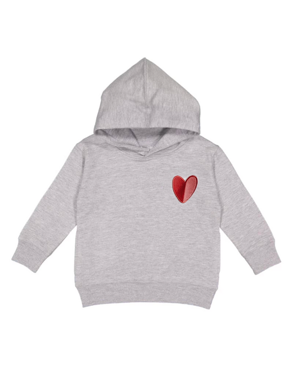 Mod Heart Patch, Toddler Hoodie