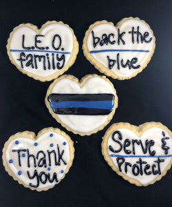 Law Enforcement Sugar Cookie
