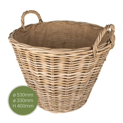 The Stove Fitter's Warehouse Sandon lined fireside log basket