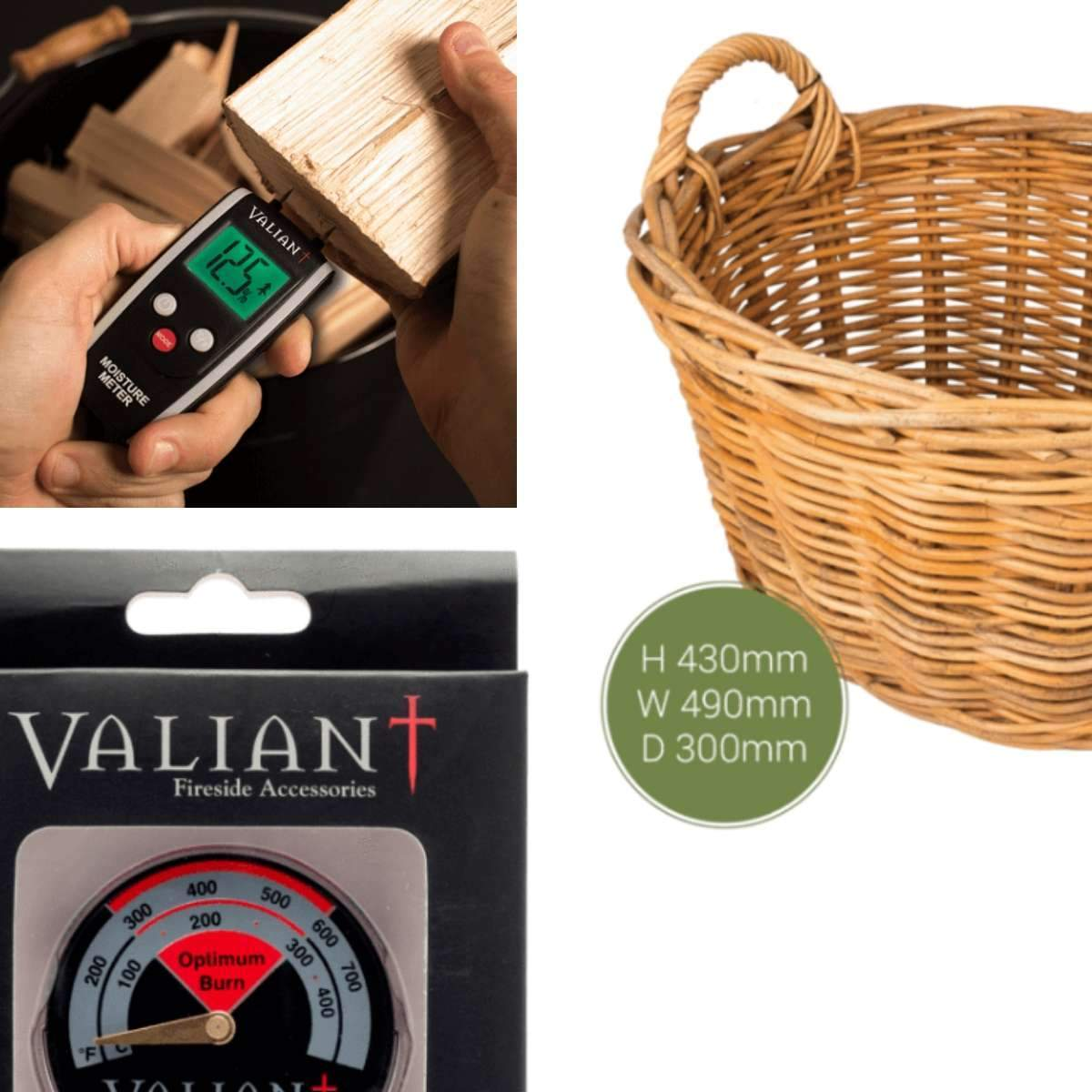 The Stove Fitter's Warehouse SOLD WITH STOVE: Log basket, Stove Thermometer & Moisture Meter