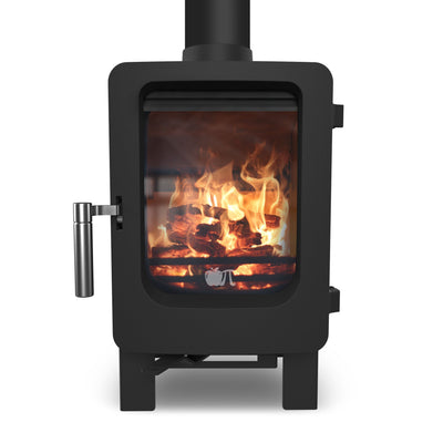 Ekol Stoves Apple Core Ekol ApplePie 4kW+ small wood stove for shacks, home office, shacks, boats, vans conservatories, glamping and small rooms