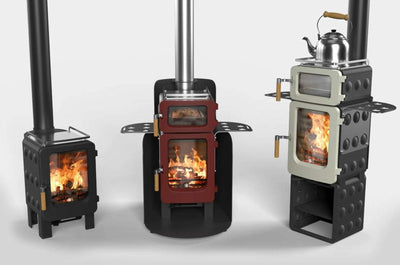 Ekol Stoves Ekol ApplePie 4kW+ small wood stove for shacks, home office, shacks, boats, vans conservatories, glamping and small rooms