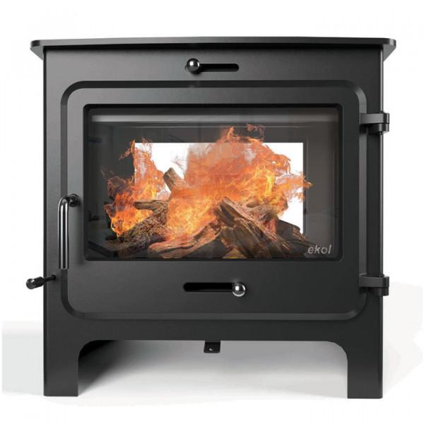 "Ekol Stoves Ekol Double Sided Clarity 14 Stove ""Double Intruder"" Ecodesign Wood Burning Stove"