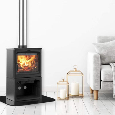 "Saltfire Stoves Saltfire Peanut 8 Stove - With ""Fast Flame"" For Easy lighting Ecodesign Wood Burning Stove"