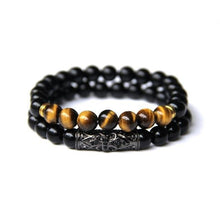 Load image into Gallery viewer, 2 pcs Tiger Eye Bead Bracelet - Dashery Box