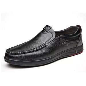 Leather Loafer Slip-ons TheSwiftzy Black 6.5