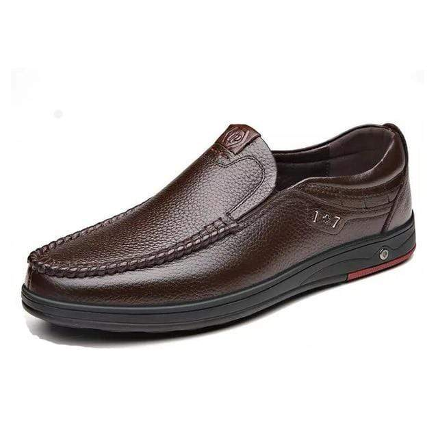 Leather Loafer Slip-ons TheSwiftzy Brown 6.5