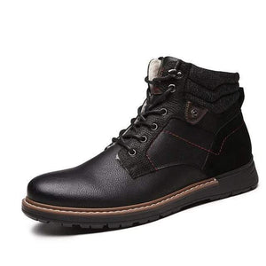 Leather Winter Boots Dashery Box Black 11