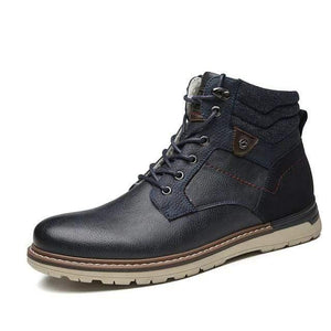 Leather Winter Boots Dashery Box Blue 7