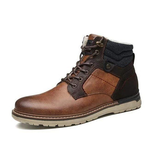 Leather Winter Boots Dashery Box Brown 11