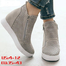 Load image into Gallery viewer, New Fashion for Women Wedge Sneaker Vulcanize Shoes Women's shoes Dashery Box