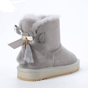Winter Sheepskin Leather boots for Women Women's winter boots Dashery Box