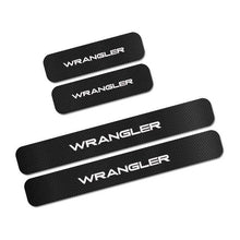Load image into Gallery viewer, For Jeep Renegade Wrangler JK TJ Rubicon Cherokee Patriot Trail Hawk Compass 4PCS Car Door Sill Stickers Car Tuning Accessories 4PCS Car Door Sill Stickers Car Tuning Accessories Dashery Box Wrangler