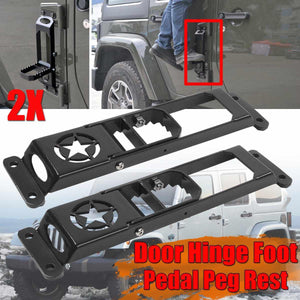 High Quality Car Exterior Door Hinge Folding Foot Pedal For Jeep For Wrangler Jeep accessories Dashery Box