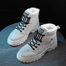 Load image into Gallery viewer, 2020 winter Platform Increase ankle Shoes Women Plush Snow boots warm round head Casual Sneakers Female Snowboots Martin boots - Dashery Box