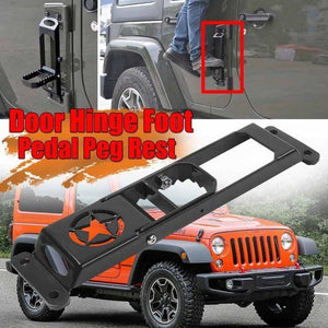 High Quality Car Exterior Door Hinge Folding Foot Pedal For Jeep For Wrangler Jeep accessories Dashery Box 1pc