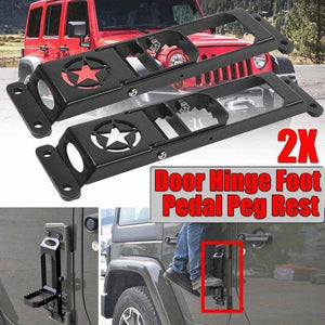 High Quality Car Exterior Door Hinge Folding Foot Pedal For Jeep For Wrangler Jeep accessories Dashery Box 2pcs