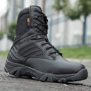 Mens Fashion Motorcycle boots Men's boots Dashery Box black high 6