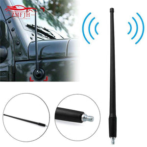 AM FM Radio Antenna for Jeep Wrangler JK JL 2007- 2018 Rugged Ridge Jeep Radio Antenna Dashery Box