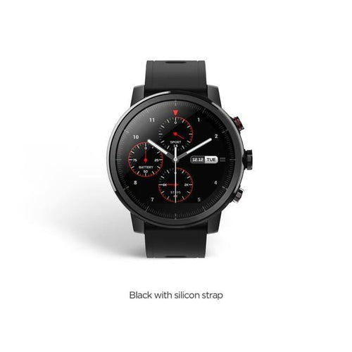 Original Amazfit Stratos Pace 2 Smartwatch Smart Watch Bluetooth GPS Calorie Count Heart Monitor 50M Waterproof Smart watch Dashery Box Black Russian Federation
