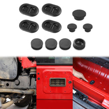 Load image into Gallery viewer, Car Exterior Floor Drain Plugs Tailgate Door Hole for Jeep Wrangler JK 2007-2017 Black Removable Waterproof Plug Accessories - Dashery Box