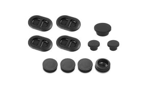 Car Exterior Floor Drain Plugs Tailgate Door Hole for Jeep Wrangler JK 2007-2017 Black Removable Waterproof Plug Accessories - Dashery Box