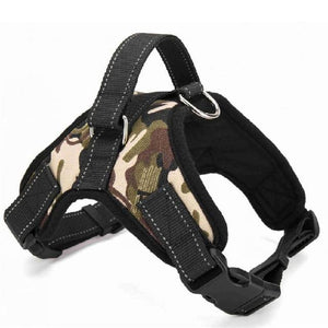 Heavy Duty Dog Pet Harness Vest Adjustable Collar Dog Harness Vest Dashery Box camouflage XL
