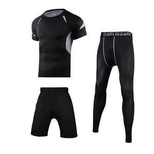 Men Sportswear Compression Sport Suits Quick Dry Running Sets Clothes Sports Joggers Training Gym Fitness Tracksuits Running Set Dashery Box Men sportswear 3-1 2XL