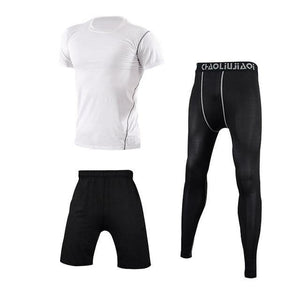 Men Sportswear Compression Sport Suits Quick Dry Running Sets Clothes Sports Joggers Training Gym Fitness Tracksuits Running Set Dashery Box Men sportswear 3-5 2XL