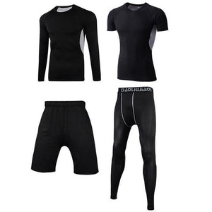 Men Sportswear Compression Sport Suits Quick Dry Running Sets Clothes Sports Joggers Training Gym Fitness Tracksuits Running Set Dashery Box Men sportswear 4-6 2XL