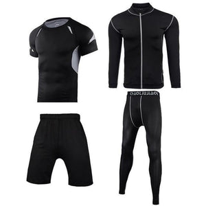 Men Sportswear Compression Sport Suits Quick Dry Running Sets Clothes Sports Joggers Training Gym Fitness Tracksuits Running Set Dashery Box Men sportswear 4-8 2XL