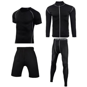 Men Sportswear Compression Sport Suits Quick Dry Running Sets Clothes Sports Joggers Training Gym Fitness Tracksuits Running Set Dashery Box Men sportswear 4-10 2XL