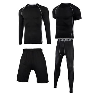 Men Sportswear Compression Sport Suits Quick Dry Running Sets Clothes Sports Joggers Training Gym Fitness Tracksuits Running Set Dashery Box Men sportswear 4-11 2XL