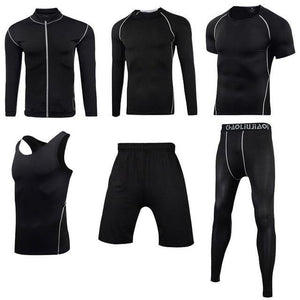 Men Sportswear Compression Sport Suits Quick Dry Running Sets Clothes Sports Joggers Training Gym Fitness Tracksuits Running Set Dashery Box